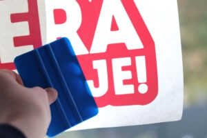 Opruiming raamstickers